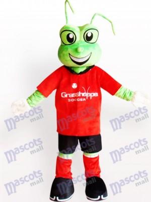 Rana verde en camiseta roja Disfraz de mascota