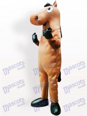 Caballo marrón adulto Disfraz de mascota