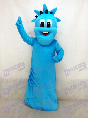 Estatua azul de la libertad Disfraz de mascota Dibujos animados