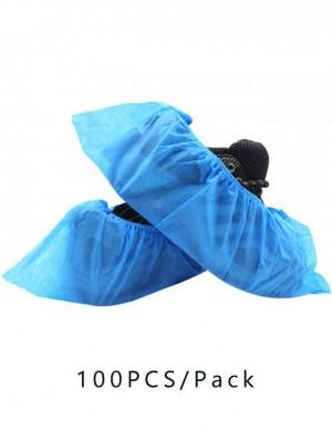 En stock 100 piezas de protección Cubrezapatos azul grueso no tejido