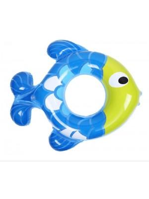 Anillo inflable de natación con flotador de piscina con forma de pez bebé