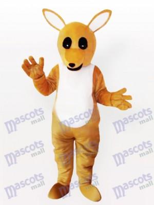 Divertido canguro amarillo adulto Disfraz de mascota Animal