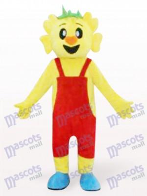 Coala amarillo con mono rojo Disfraz de mascota Animal