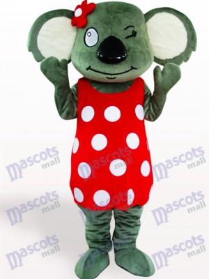 Coala con falda roja Disfraz de mascota Animal