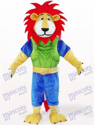 Leo León con pelo rojo Disfraz de mascota Animal