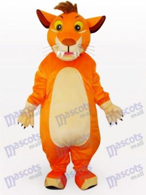 Lindo León Naranja Disfraz de mascota Animal
