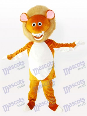 León macho amarillo adulto Disfraz de mascota Animal