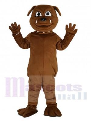 Linda Bulldog marrón Disfraz de mascota Animal
