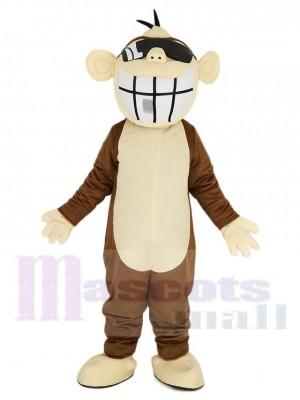 Gracioso Mono marrón Disfraz de mascota Animal