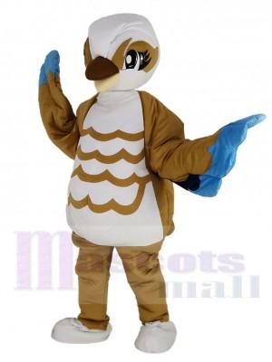 Pájaro marrón y blanco Disfraz de mascota