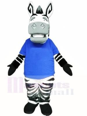 Linda cebra ligera Disfraz de mascota