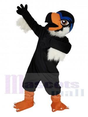 Águila feroz negra Disfraz de mascota Pájaro