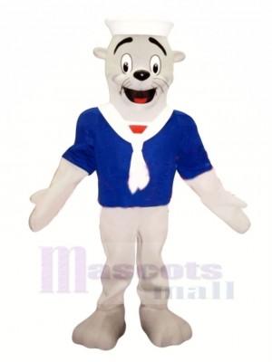 Sello con camiseta azul Disfraz de mascota