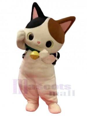 Lindo gato Disfraz de mascota animal con orejas negras y marrones