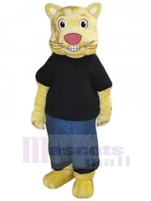 Cookie el gato de la cultura Disfraz de mascota animal en camiseta negra