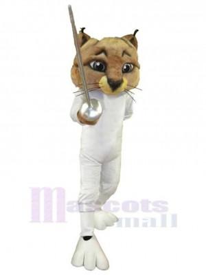 Genial gato esgrimista Disfraz de mascota animal