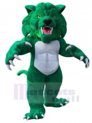 Feroz gato montés verde Disfraz de mascota animal