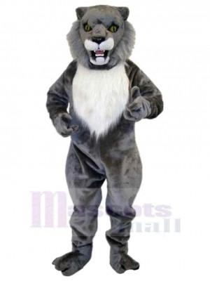 Feroz gato montés gris Disfraz de Mascota Animal Adulto