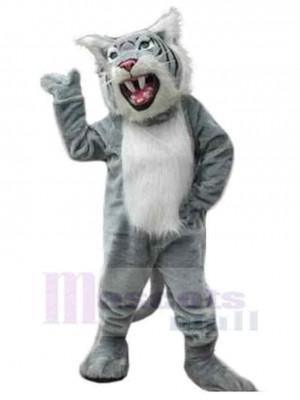 Feroz gato montés Disfraz de mascota animal con dientes afilados