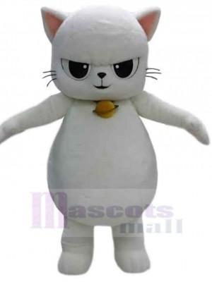 Feroz gato blanco Disfraz de mascota animal
