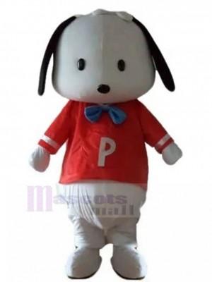 Perrito blanco Disfraz de Mascota con Animal Camisa Roja