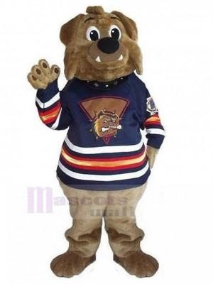 Amable marrón Bulldog Británico Disfraz de Mascota en Cultural Camisa Animal