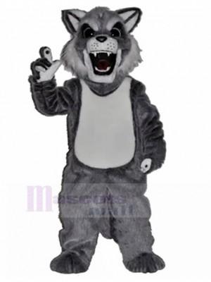 Perro lobo gris husky feroz Disfraz de mascota animal