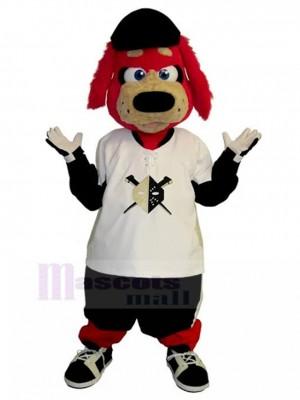 Perro rojo peludo de Frank Disfraz de mascota animal en traje de camisa de gran tamaño