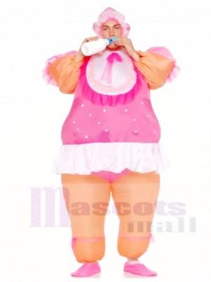 Muñeca rosa Traje inflable