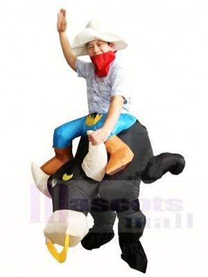 Paseo de vaquero en Toro Negro Traje inflable