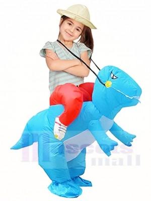 Dinosaurio azul Traje inflable