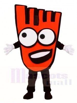 Mano roja caminando Disfraz de mascota