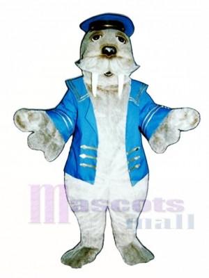 Linda morsa con traje de marinero Disfraz de mascota