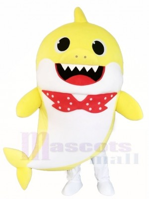 Cute PinkFong Yellow Baby Shark Disfraz de mascota