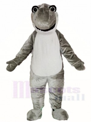 Lindo tiburón gris Disfraz de mascota