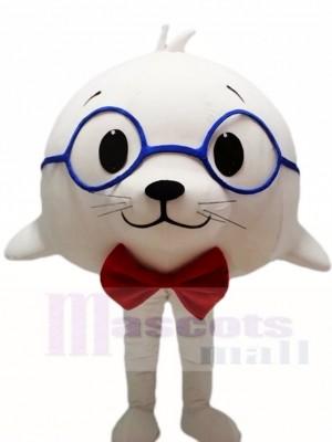 Lindo sello de león marino blanco Disfraz de mascota