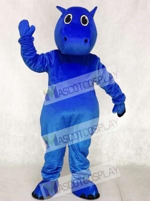 Lindo bebé hipopótamo azul Disfraz de mascota