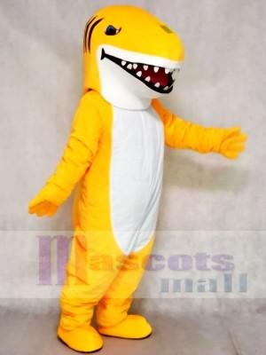 Tiburón amarillo de color personalizado Disfraz de mascota