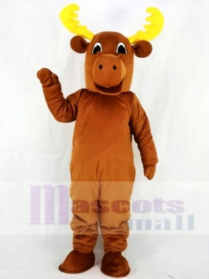 Lindo toro alce Disfraz de mascota