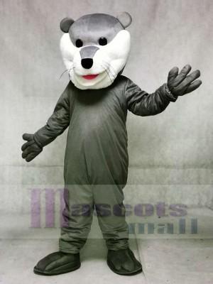 Bonito hockey gris Champ Otter Disfraz de mascota