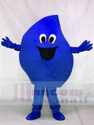Gota de agua de mar azul Disfraz de mascota
