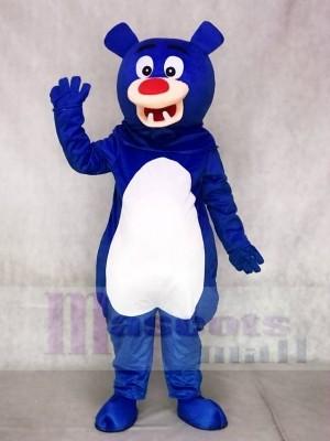 Oso azul con panza blanca Disfraz de mascota