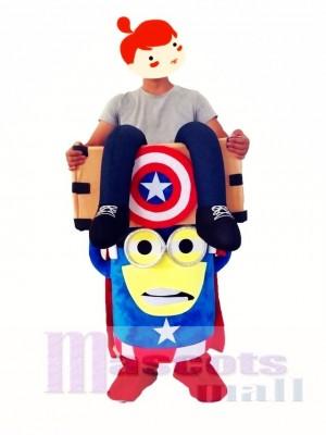 Capitán América a cuestas Disfraz de mascota