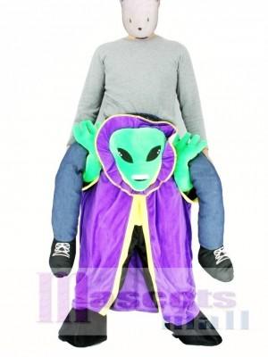 Alien con capa Disfraz de mascota