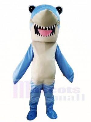 Lindo tiburón azul Disfraz de mascota