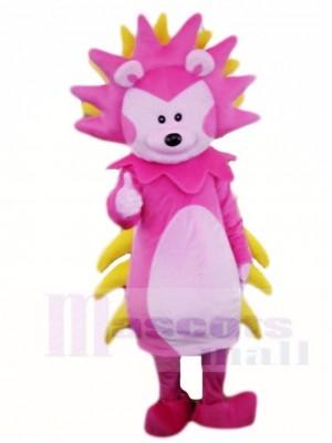 Erizo rosa y amarillo Disfraz de mascota