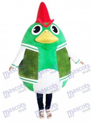 Pollo Gallo en Traje Verde Disfraz de mascota animal