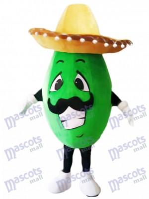 Aguacate mexicano con sombrero grande Disfraz de mascota Fruta