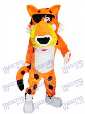 Guepardo Chester naranja Disfraz de mascota Animal