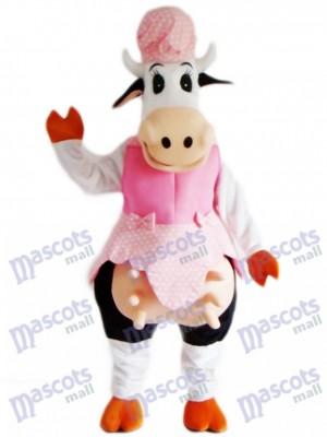 Vaca en vestido rosa Disfraz de mascota Animal